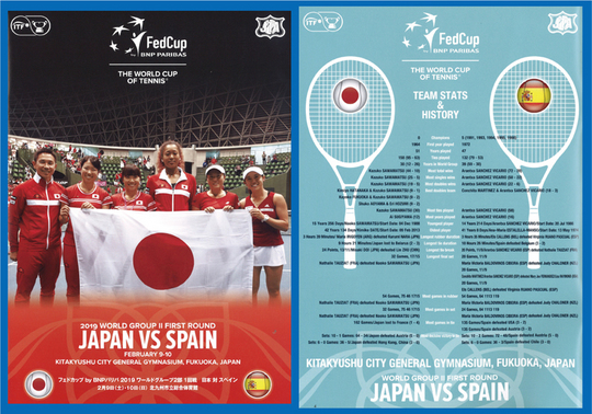 Fed Cup スペイン戦のプログラム【NOBU TENNIS BLOG】